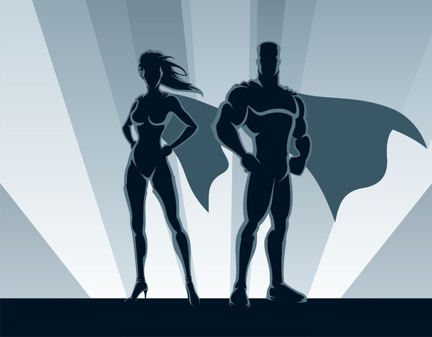 Superheroes stylized graphic